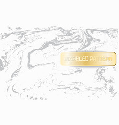 White and gray marble pattern light marbling vector
