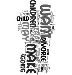 Your children text word cloud concept vector