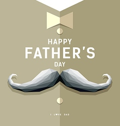 Happy fathers day mustache geometric design vector image vector image