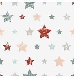 Seamless childish pattern with stars Grunge style vector image vector image