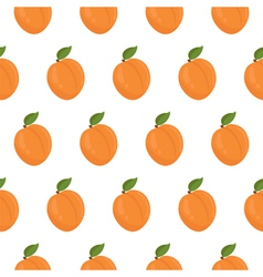 Seamless pattern with apricots vector image vector image