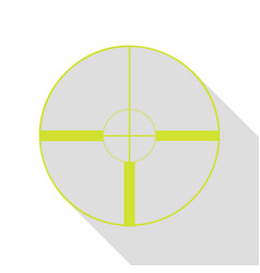 sight sign pear icon with flat style vector image vector image
