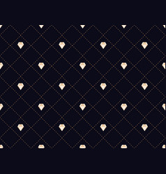 art deco seamless pattern with diamonds style vector image vector image