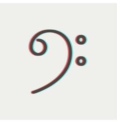 C-clef thin line icon vector image vector image