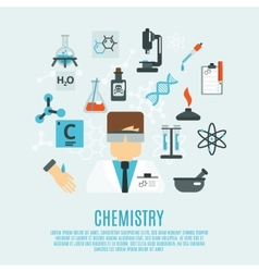 Chemistry Flat Icon Set vector image