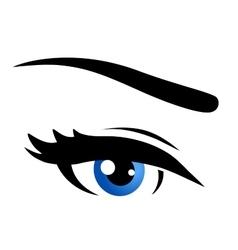 isolated blue eye vector image