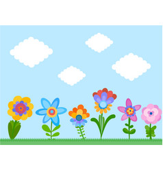 Naive style flowers vector