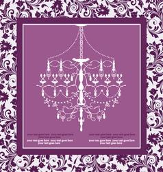 purple vintage invitation wedding card vector image vector image