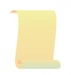 realistic illustration roll for manuscript vector image