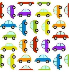 seamless pattern with car vector image vector image