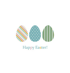 easter eggs on white vector image vector image