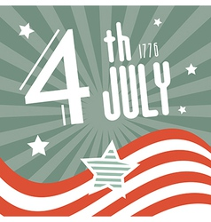 Fourth July 1776 Independence Day Retro Background vector image vector image