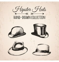 Hipster fashion vintage elements hand-drawn mega vector image vector image