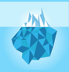 low poly iceberg isolated on white background vector image