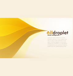 oil droplet background vector image vector image