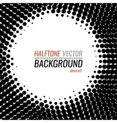 black and white dot halftone background vector image vector image