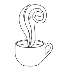 figure coffee cup with steam vector image