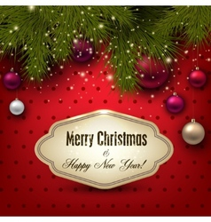Gorgeous Christmas gift card with Christmas vector image