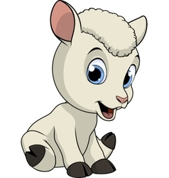Little funny lamb vector image vector image