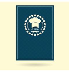 menu cover creative design vector image