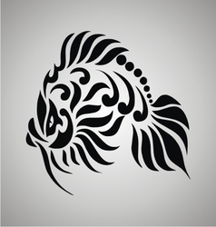 Tribal Goldfish vector image