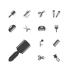 13 hairdressing icons vector