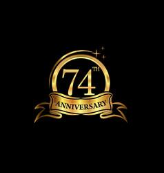 74 year anniversary celebration anniversary vector