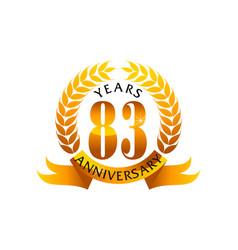 83 years ribbon anniversary vector