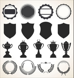 a collection badge labels and ribbons vector image