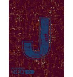 Alphabet j vector