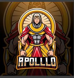 Apollo esport mascot logo design vector