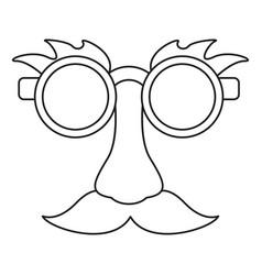 april fool mask comic thin line vector image