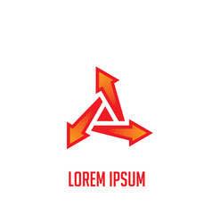 arrow triangle business logo vector image