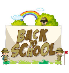 Back to school template with scout vector