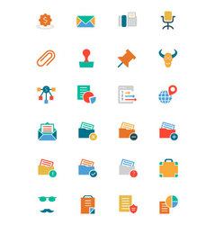 Banking and Finance Colored Icons 8 vector image