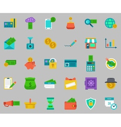 Banking Icons set - pay and receive money vector