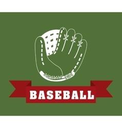 Baseball leather glove vector