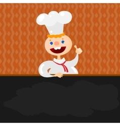 Blackboard menu and Chef vector image