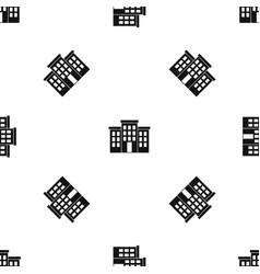 building pattern seamless black vector image