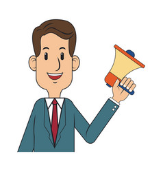 businessman cartoon icon vector image