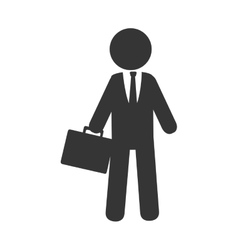 Businessman isolated flat icon vector image