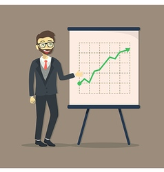 Businessman Presentation Growing Up vector image