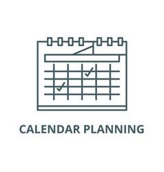 calendar planning line icon calendar vector image