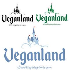 castle vegan image tshirt print vector image