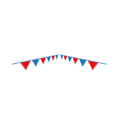 circus flag graphic design template isolated vector image