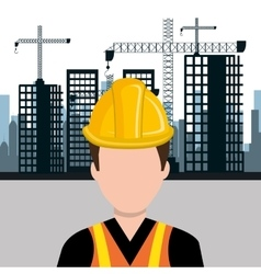 City under construction cityscape background icon vector