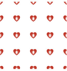 cpu in heart icon pattern seamless white vector image