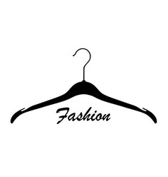 creative fashion logo design sign with lettering vector image
