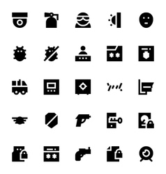 Crime Security and Defense Icons 2 vector