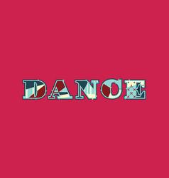dance concept word art vector image